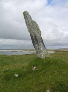 standing stone down from Bornish