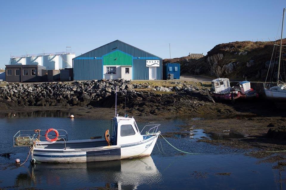 Salar Smokehouse with boat