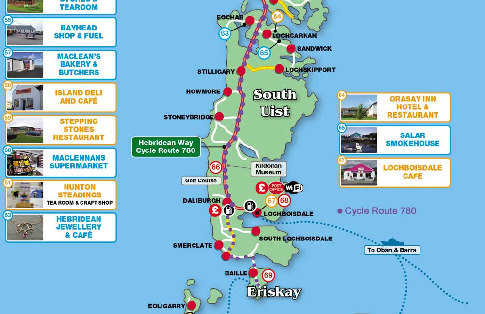 Hebridean cycle route Map